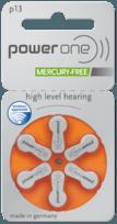 μπαταρίες ακουστικών βαρηκοΐας, μπαταρίες ακουστικού, μπαταρίες ακουστικών βαρηκοΐας, μπαταρίες ακουστικών Power One 13, Power One 13