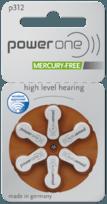 μπαταρίες ακουστικών βαρηκοΐας, μπαταρίες ακουστικού, μπαταρίες ακουστικών βαρηκοΐας, μπαταρίες ακουστικών Power One 312, Power One 312